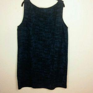 Eileen Fisher Black/Blue Dress XL